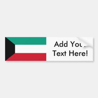 Flagge von Kuwait Autoaufkleber