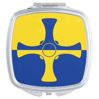 Flagge von Landkreis kompakter Spiegel Durhams, Taschenspiegel