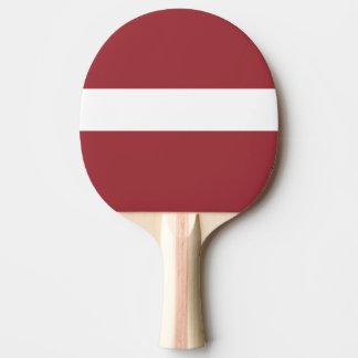 Flagge von Lettland-Klingeln Pong Paddel Tischtennis Schläger
