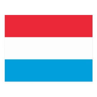 Flagge von Luxemburg-Postkarte Postkarte