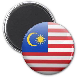 Flagge von Malaysia Runder Magnet 5,7 Cm