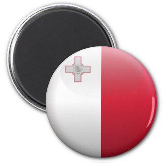 Flagge von Malta Runder Magnet 5,1 Cm