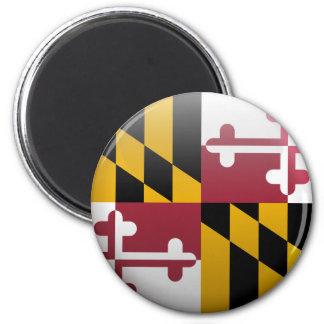 Flagge von Maryland Runder Magnet 5,1 Cm