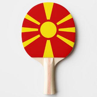 Flagge von Mazedonien-Klingeln Pong Paddel Tischtennis Schläger