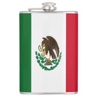 Flagge von Mexiko Flachmann