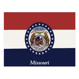 Flagge von Missouri Postkarte