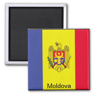 Flagge von Moldau Quadratischer Magnet