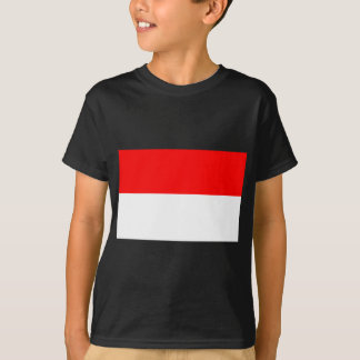 Flagge von Monaco T-Shirt