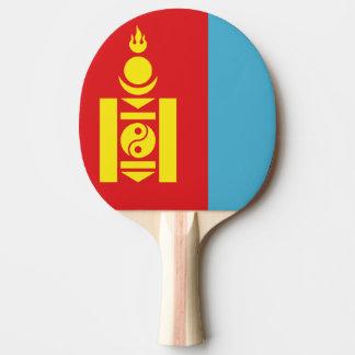 Flagge von Mongolei-Klingeln Pong Paddel Tischtennis Schläger