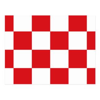 Flagge von Nordbrabant Postkarte