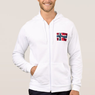 Flagge von Norwegen Hoodie