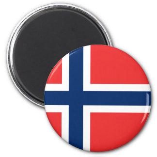 Flagge von Norwegen Runder Magnet 5,1 Cm
