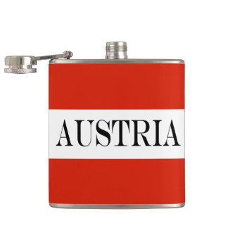 Flagge von Österreich Flachmann