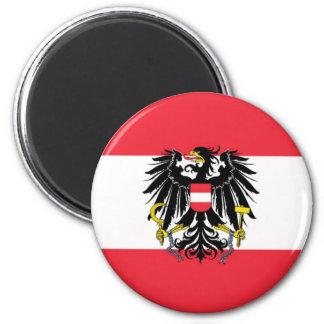 Flagge von Österreich - Flagge Österreichs Runder Magnet 5,1 Cm