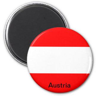 Flagge von Österreich Runder Magnet 5,1 Cm
