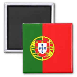 Flagge von Portugal-Magneten (Quadrat) Quadratischer Magnet