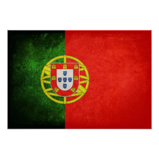 Flagge von Portugal Poster