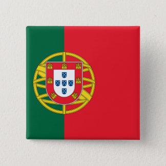Flagge von Portugal Quadratischer Button 5,1 Cm