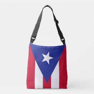 Flagge von Puerto- Rico - Banderade Puerto Rico Tragetaschen Mit Langen Trägern