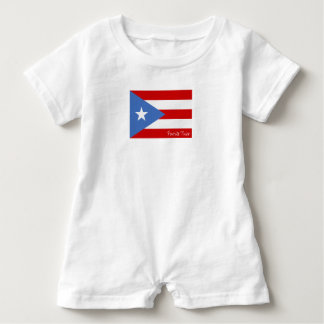 Flagge von Puerto Rico: Patriotisch Baby Strampler