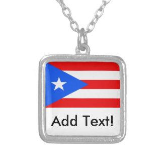 Flagge von Puerto Rico Versilberte Kette