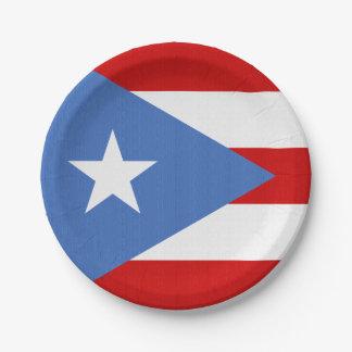 Flagge von Puerto- Ricothema Pappteller