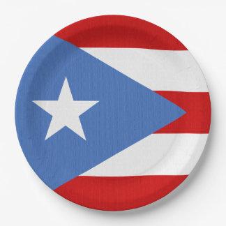 Flagge von Puerto- Ricothema Pappteller 22,9 Cm