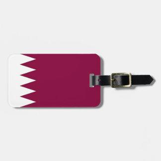 Flagge von Qatar Gepäckanhänger
