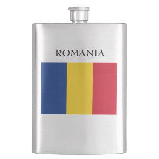 Flagge von Rumänien Flachmann