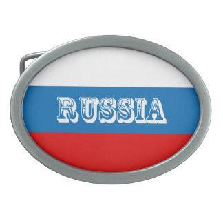 Flagge von Russland Ovale Gürtelschnallen