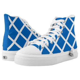 Flagge von Schottland oder von Saltire Hoch-geschnittene Sneaker