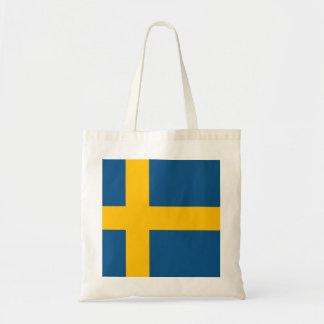 Flagge von Schweden Budget Stoffbeutel