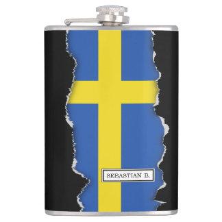 Flagge von Schweden Flachmann