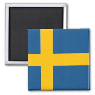 Flagge von Schweden Quadratischer Magnet
