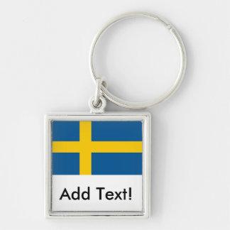 Flagge von Schweden Schlüsselanhänger