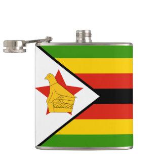 Flagge von Simbabwe Afrika Flachmann