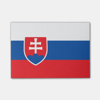 Flagge von Slowakei Posten-it® Anmerkungen Post-it Haftnotiz
