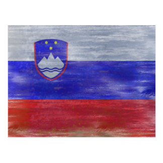 Flagge von Slowenien - slowenisch Flagge - Postkarte