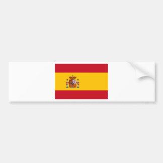 Flagge von Spanien Autoaufkleber