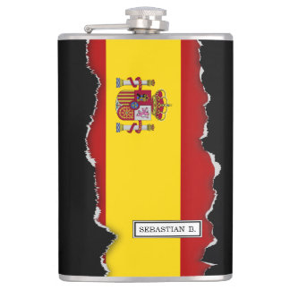 Flagge von Spanien Flachmann
