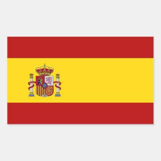 Flagge von Spanien Rechteckiger Aufkleber