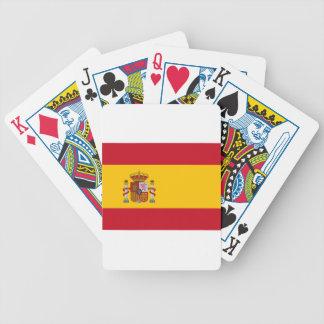 Flagge von Spanien Spielkarten
