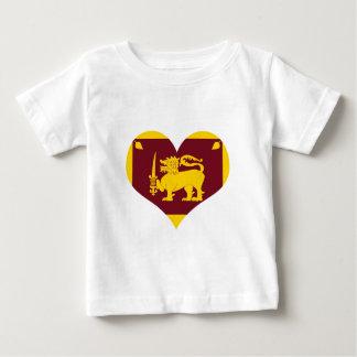 Flagge von Sri Lanka Insel Baby T-shirt