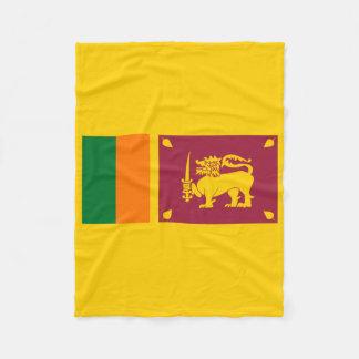 Flagge von Sri Lanka Insel Fleecedecke