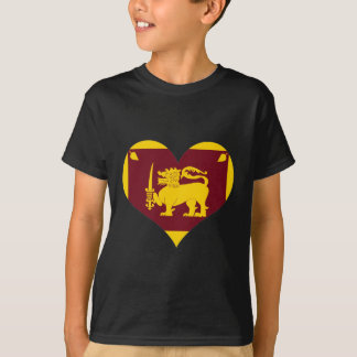 Flagge von Sri Lanka Insel T-Shirt