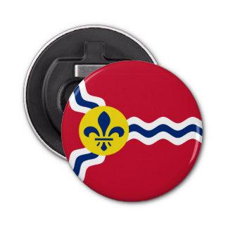 Flagge von St. Louis, Missouri Runder Flaschenöffner