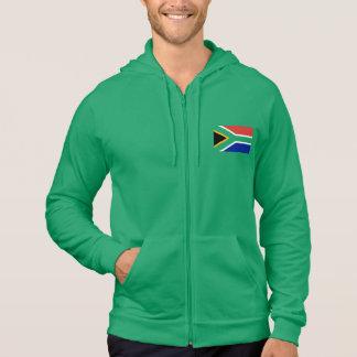 Flagge von Südafrika auf Grün Hoodie