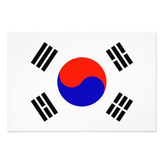 Flagge von Südkorea Fotografie