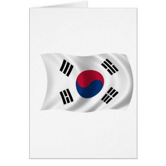 Flagge von Südkorea Karte