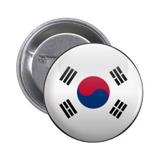 Flagge von Südkorea Runder Button 5,7 Cm